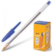 Ручка шариковая BIC 'Cristal', СИНЯЯ, корпус прозрачный, узел 1 мм, линия письма 0,32 мм, 847898