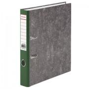 Папка-регистратор BRAUBERG, фактура стандарт, с мраморным покрытием, 50 мм, зеленый корешок, 220985